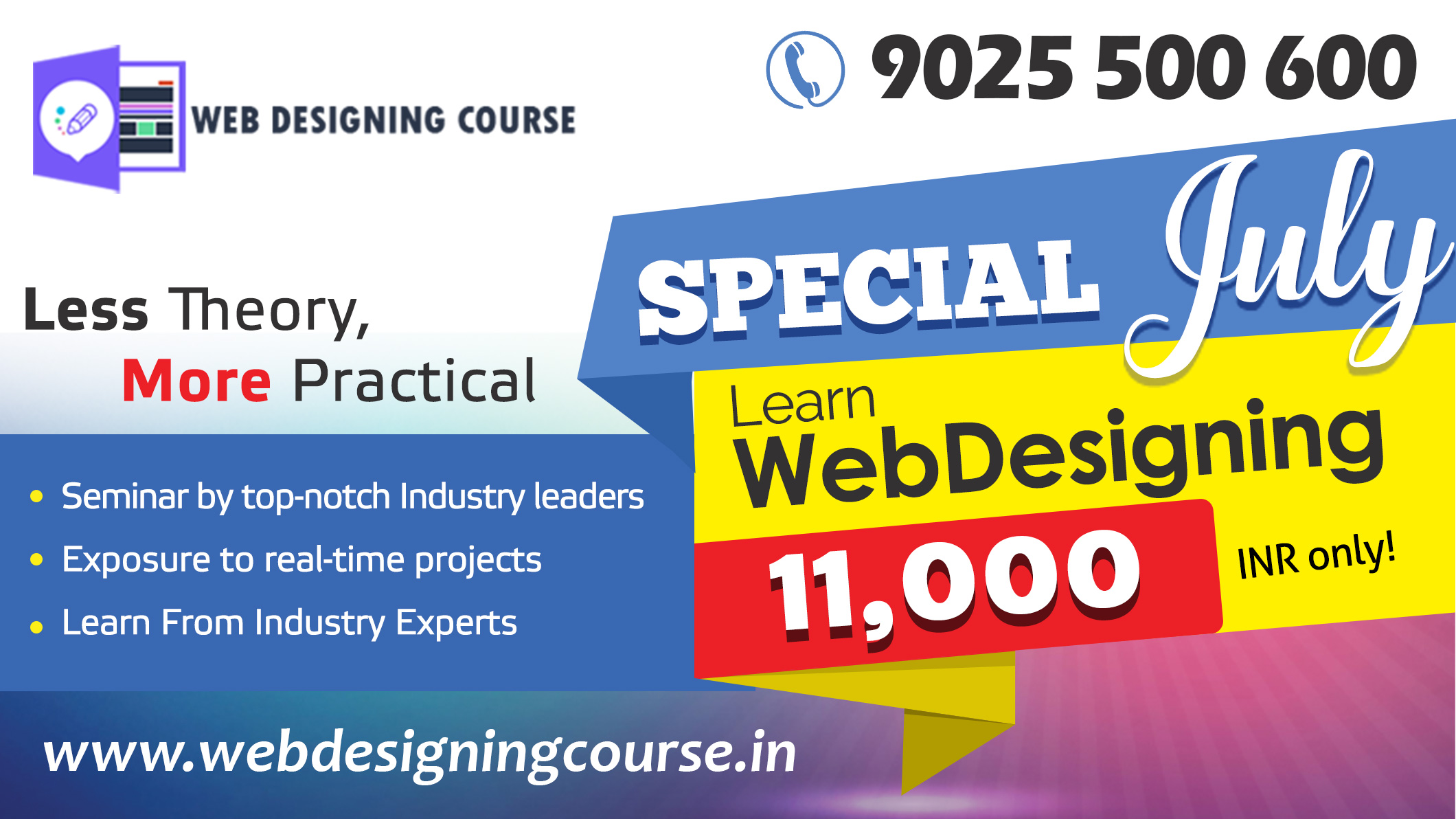Web Designing Course Offer Special July